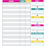 10 Budget Templates That Will Help You Stop Stressing About Money | Free Printable Home Budget Worksheet