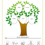 113 Free Esl Family Tree Worksheets   My Family Tree Free Printable | Family Tree Worksheet Printable