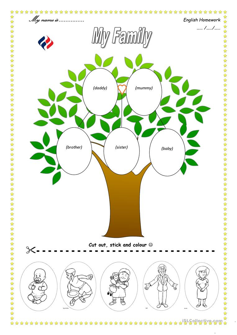 113 Free Esl Family Tree Worksheets - My Family Tree Free Printable | Family Tree Worksheet Printable