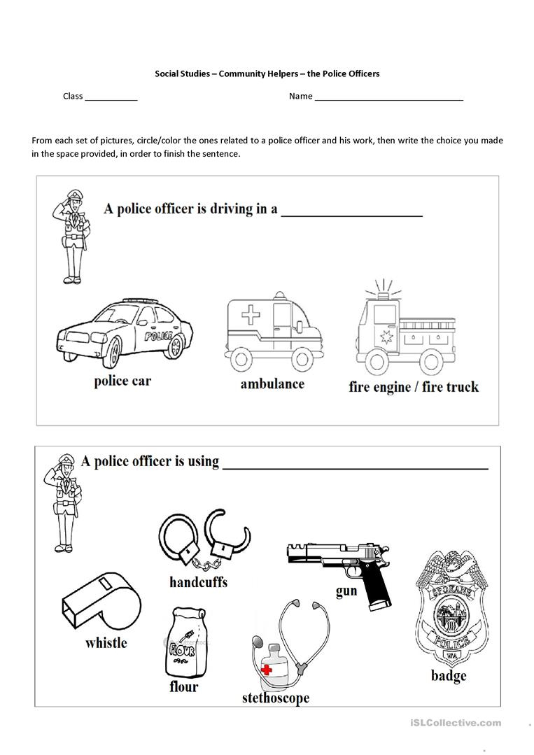 13 Free Esl Community Helpers Worksheets | Free Printable Community Helpers Worksheets For Kindergarten
