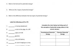 15 Potential And Kinetic Energy Worksheet 6Th Grade – Kilimandjarouk | Free Printable Worksheets On Potential And Kinetic Energy