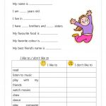 17 Free Esl Introduce Yourself Worksheets | Introduce Yourself Printable Worksheets