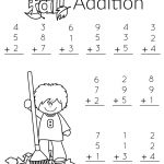 1St Grade Math And Literacy Worksheets With A Freebie! | Teachers | Free Printable Fall Math Worksheets
