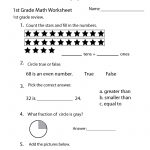 1St Grade Math Review Worksheet Printable | Elementary Math | Math Worksheets For Teachers Printable