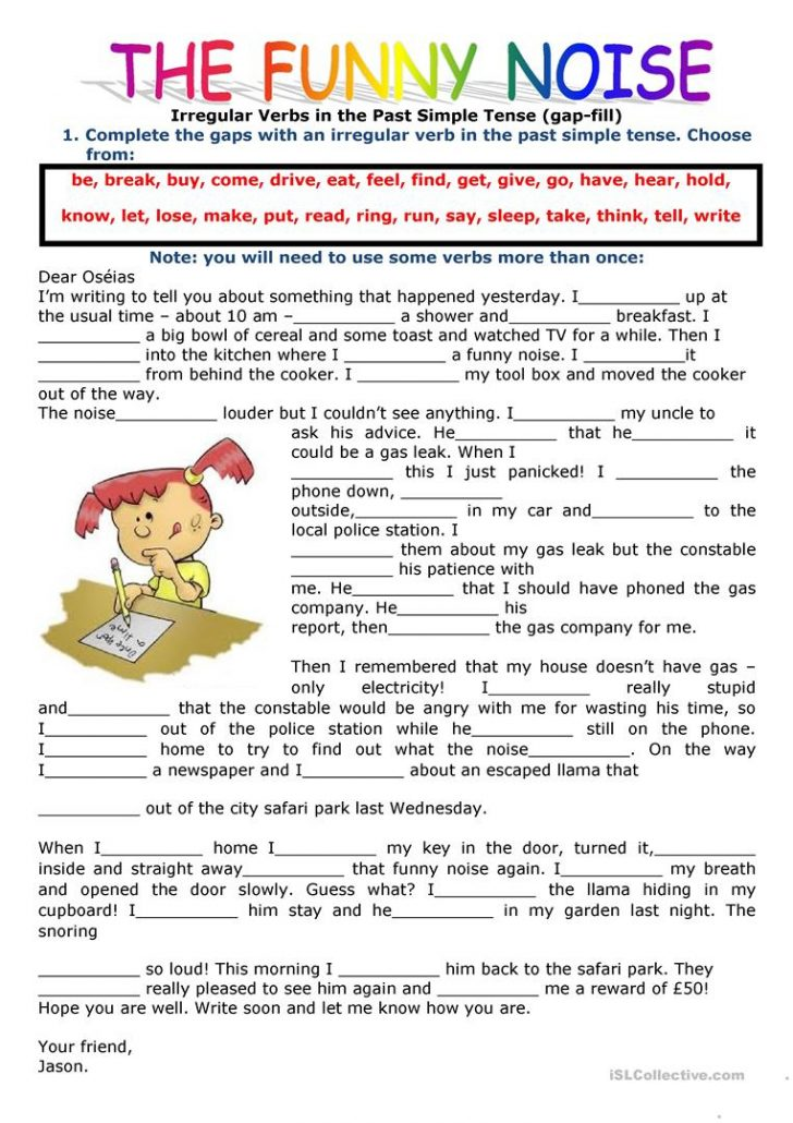 Past Simple Printable Worksheets