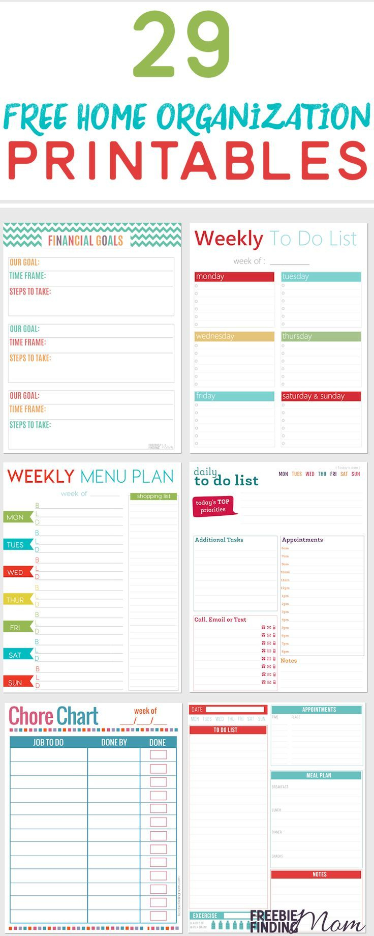 29 Free Home Organization Printables   Work Place   Binder   Free Printable Home Organization Worksheets