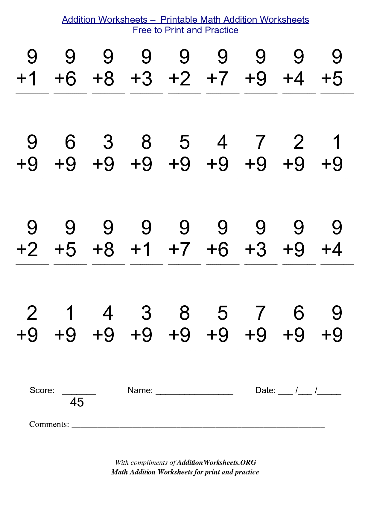 2Nd Grade Stuff To Print | Addition Worksheets - Printable Math | Printable Second Grade Math Worksheets