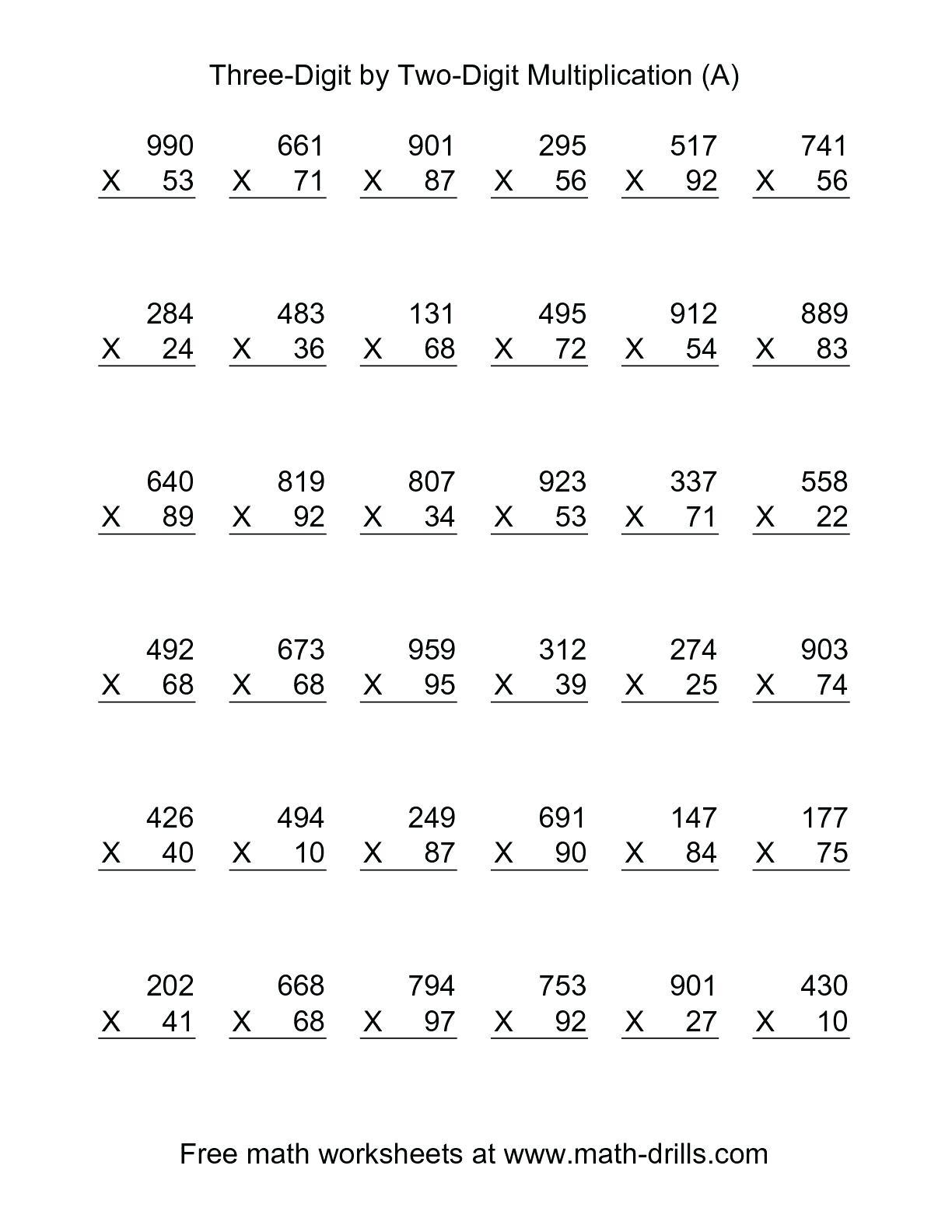 3 Digit1 Digit Multiplication Worksheets Math Similar Images For | 3 Digit By 1 Digit Multiplication Worksheets Printable