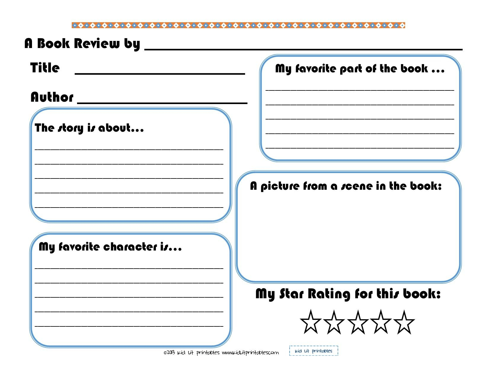 3 Levels Of Free Printable Book Reports From Kid Lit Printables   Book Report Printable Worksheets