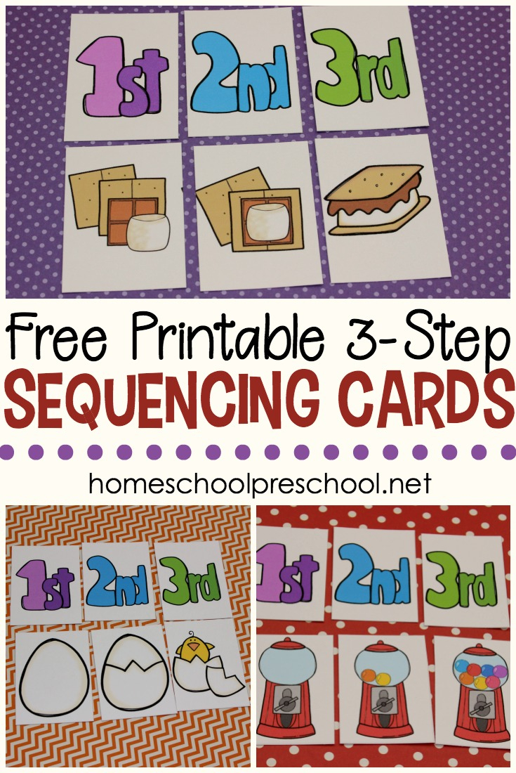 3 Step Sequencing Cards Free Printables For Preschoolers | Free Printable Sequencing Worksheets For Kindergarten