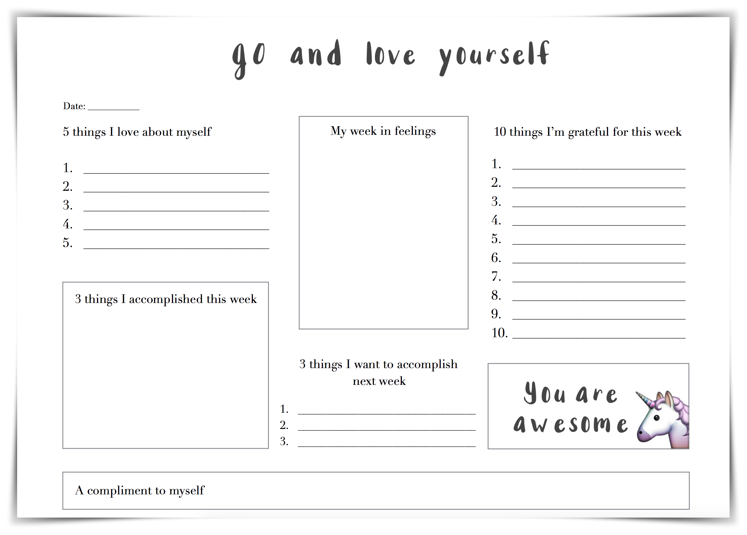 30 Self Esteem Worksheets To Print | Kittybabylove | Printable Self Esteem Worksheets For Teenagers