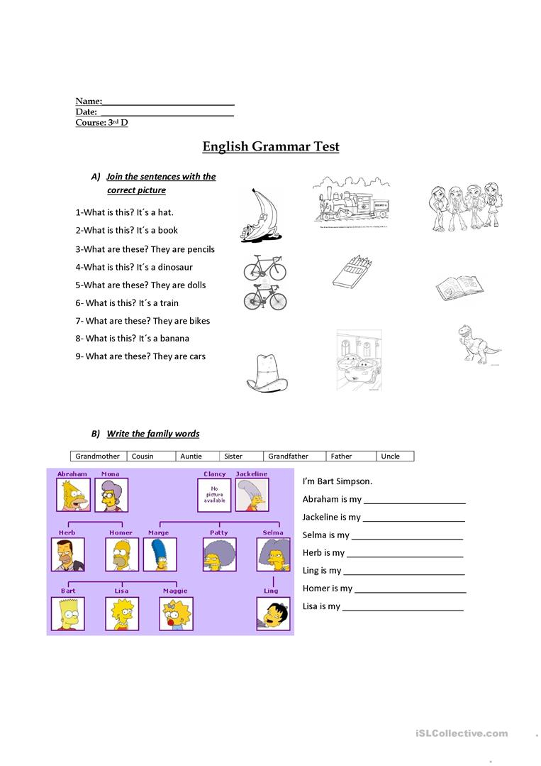 3Rd Grade Evaluation Worksheet - Free Esl Printable Worksheets Made | Free Printable English Worksheets For 3Rd Grade