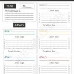 4 Stylish Goal Setting Worksheets To Print (Pdf) | Hopes And Dreams Printable Worksheet