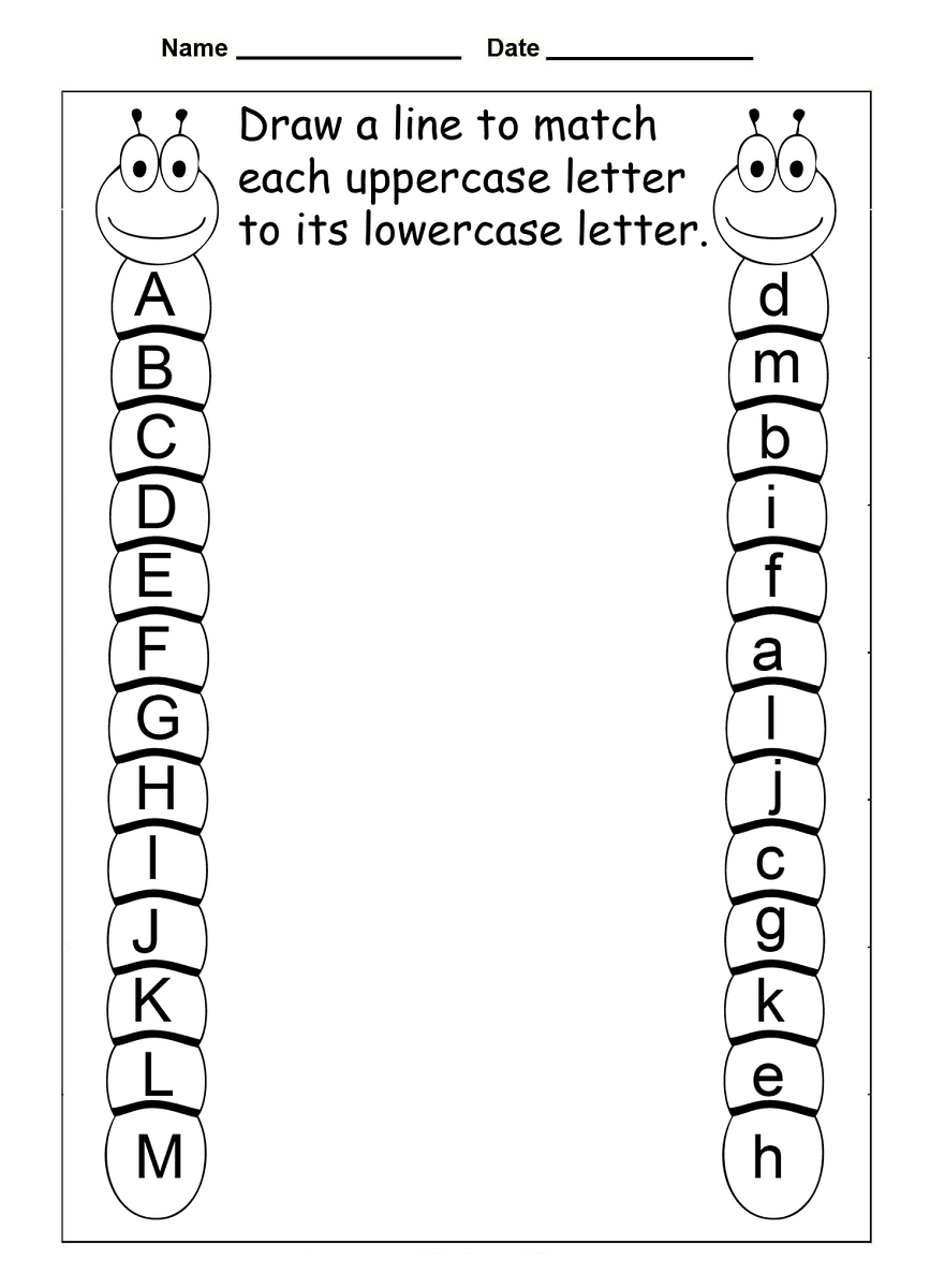 4 Year Old Worksheets Printable | Kids Worksheets Printable | Abc Matching Worksheets Printable