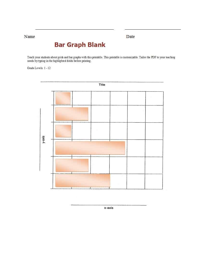 41 Blank Bar Graph Templates [Bar Graph Worksheets] ᐅ Template Lab | Blank Bar Graph Printable Worksheets