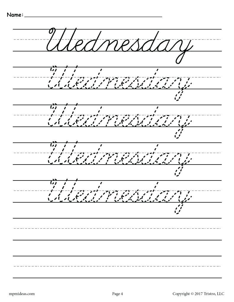 4Th Grade Cursive Writing Worksheets – Shoppingfoorme.club   Free Printable Cursive Writing Worksheets For 4Th Grade
