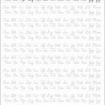 5 Printable Cursive Handwriting Worksheets For Beautiful Penmanship | Free Printable Script Writing Worksheets