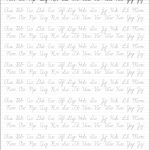 5 Printable Cursive Handwriting Worksheets For Beautiful Penmanship | Printable Cursive Writing Worksheets