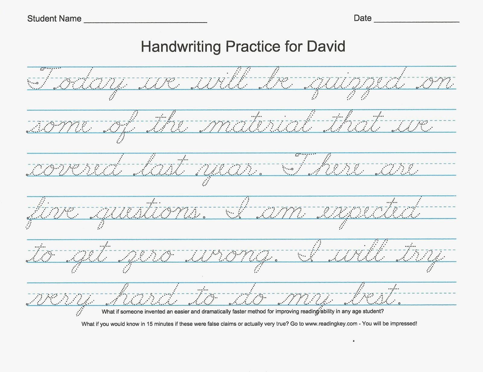 54 Unique Of Free Printable Cursive Handwriting Worksheets Pic | Free Printable Cursive Writing Sentences Worksheets