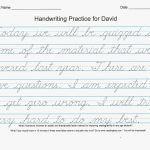 54 Unique Of Free Printable Cursive Handwriting Worksheets Pic | Free Printable Cursive Writing Worksheets For 4Th Grade