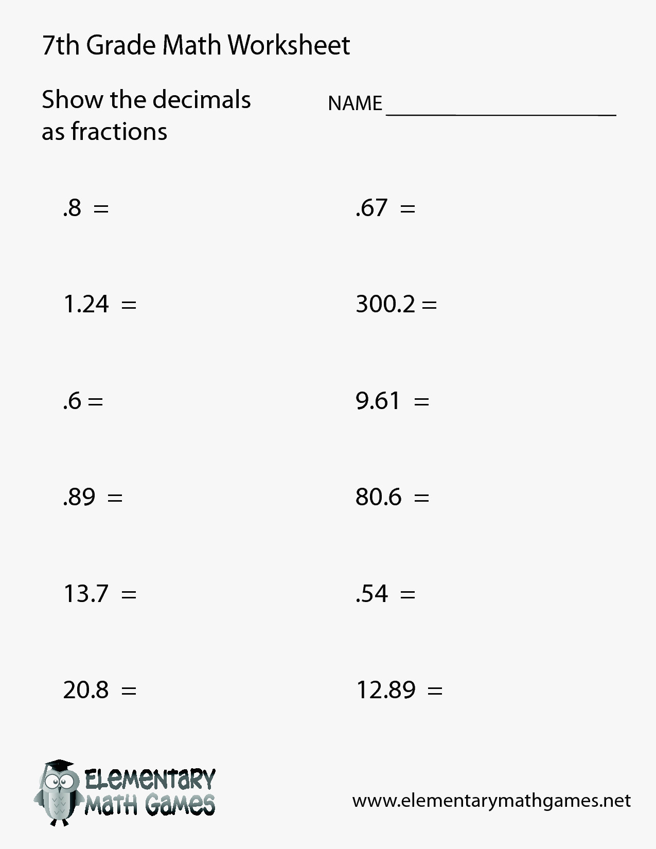 56 Elegant Of 7Th Math Worksheets Pictures | 7Th Math Worksheets Printable