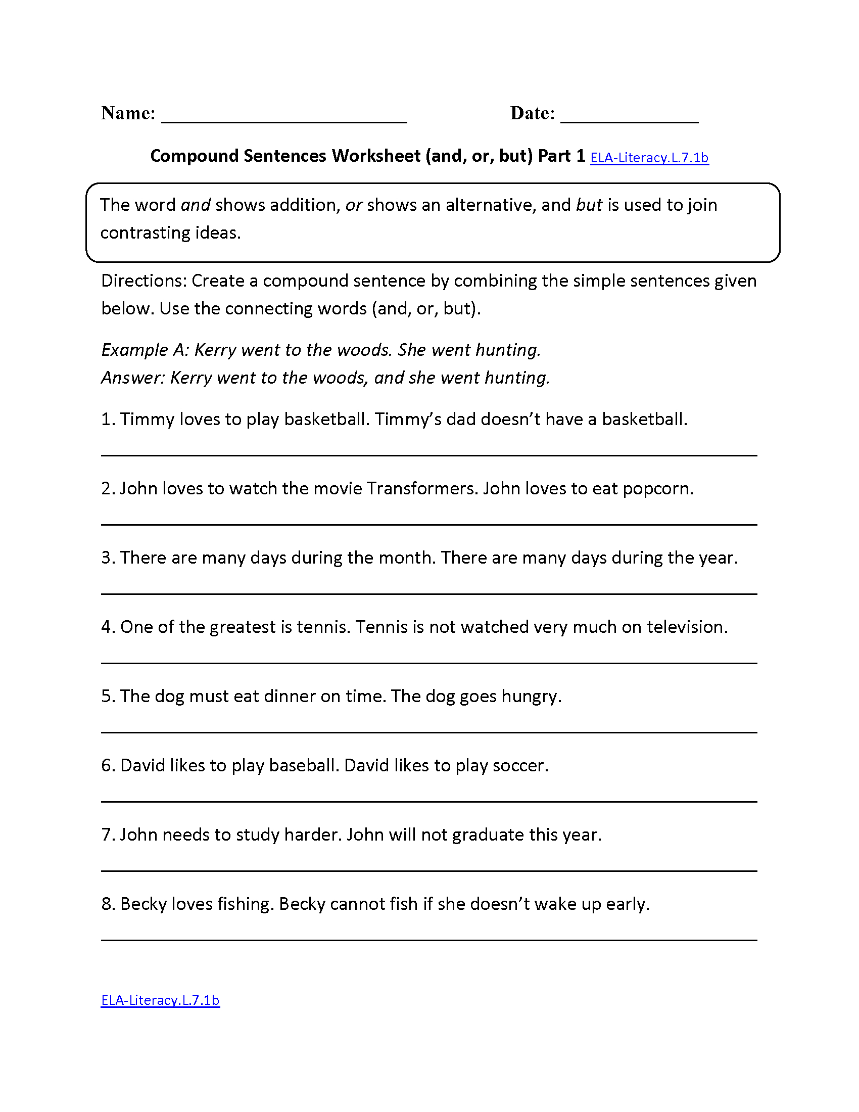 7Th Grade Common Core | Language Worksheets | Grade 7 English Worksheets Printable