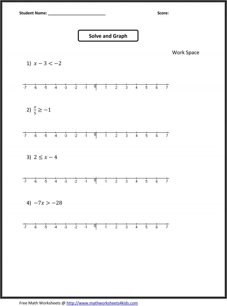 7Th Grade Worksheets Free 7Th Grade Math Worksheets Free Printable   7Th Grade Math Printable Worksheets With Answers