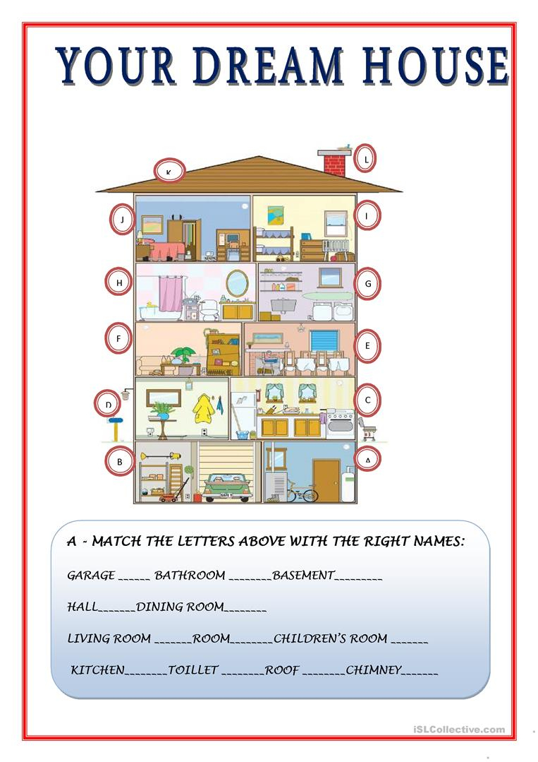 8 Free Esl Dream House Worksheets | Hopes And Dreams Printable Worksheet