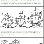 A Columbus Day Read And Color Book | Columbus Day Worksheets Printable
