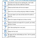 A True Catholic Version Of The Ten Commandments, For Kids | The | 10 Commandments Printable Worksheets
