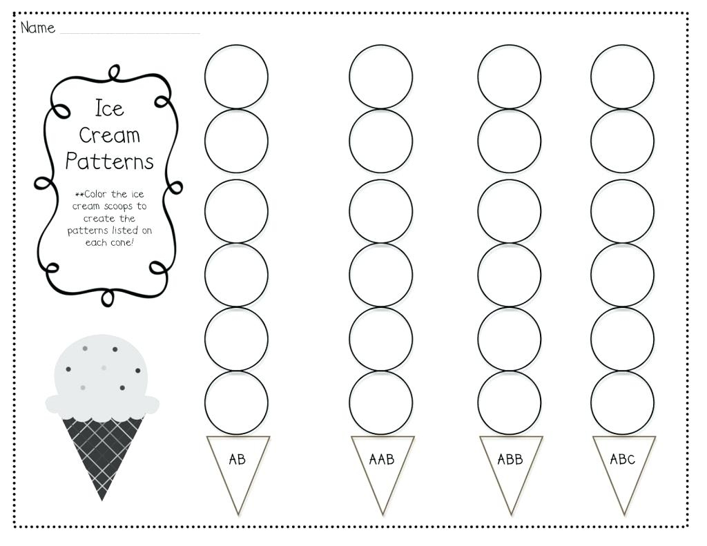Abc Pattern Worksheets Interesting Connect The Dots Kindergarten | Free Printable Ab Pattern Worksheets