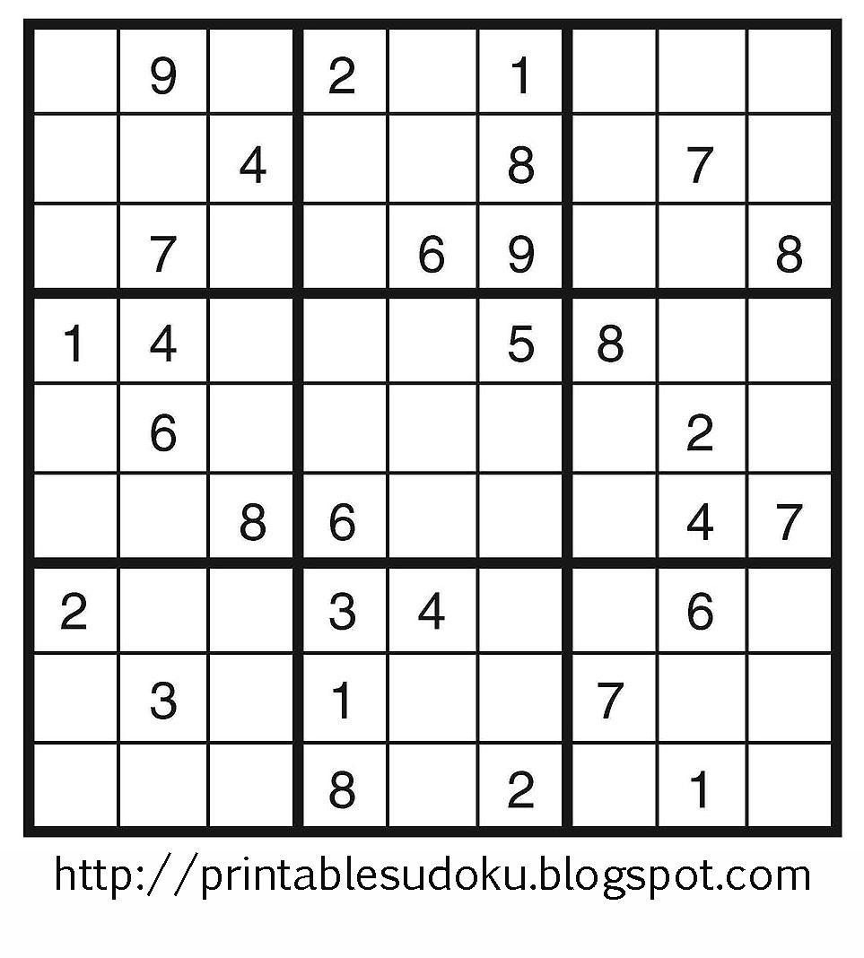 About 'printable Sudoku Puzzles'|Printable Sudoku Puzzle #77 ~ Tory | Printable Sudoku Worksheets