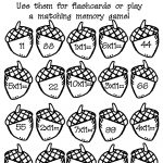 Acorn Multiplication Math Worksheet : Printables For Kids – Free | Free Printable Fall Math Worksheets