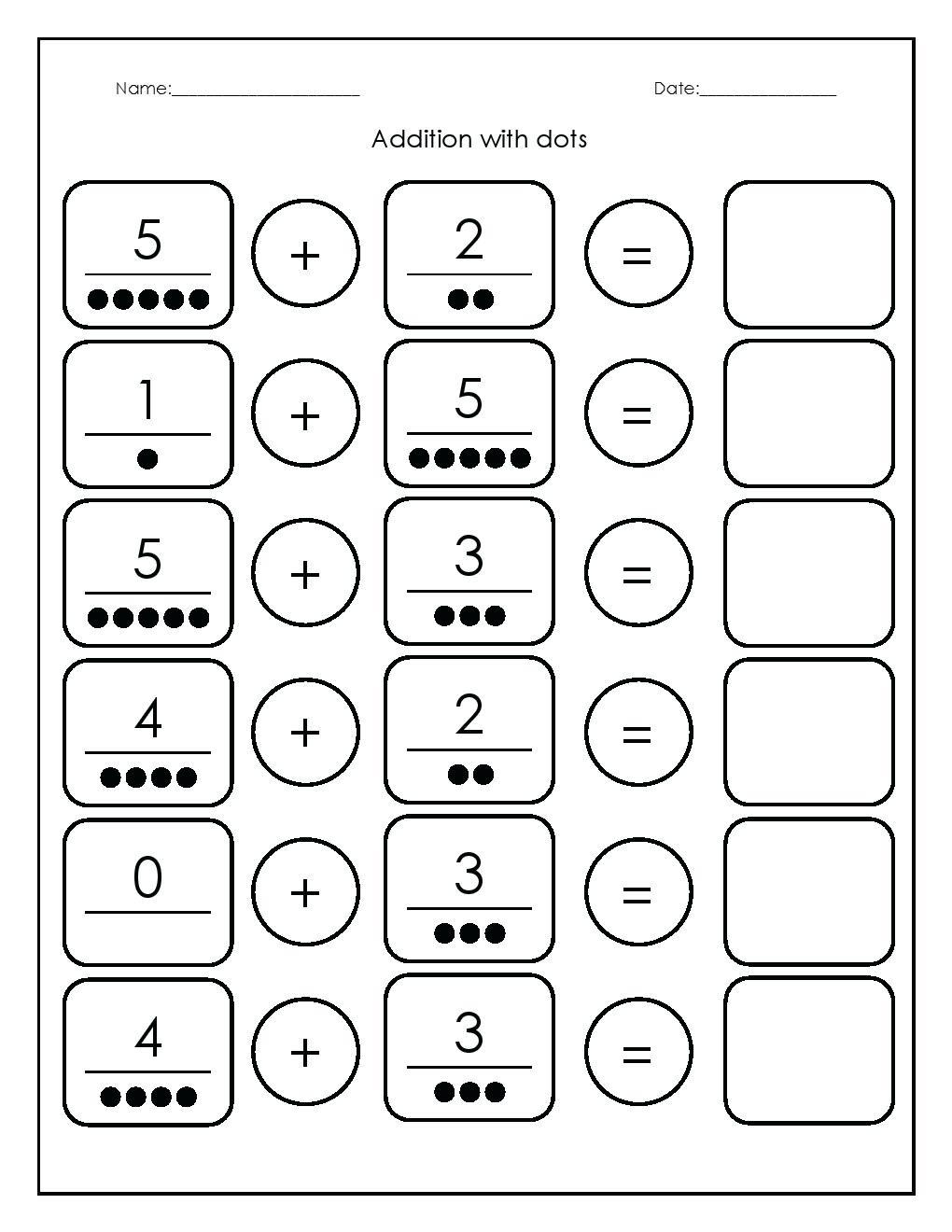 Addition Kindergarten Worksheets Kindergarten Math Worksheets   Free Printable Kindergarten Worksheets Pdf
