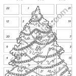 Advent Calendar 1   Esl Worksheetchiaretta   Advent Printable Worksheets