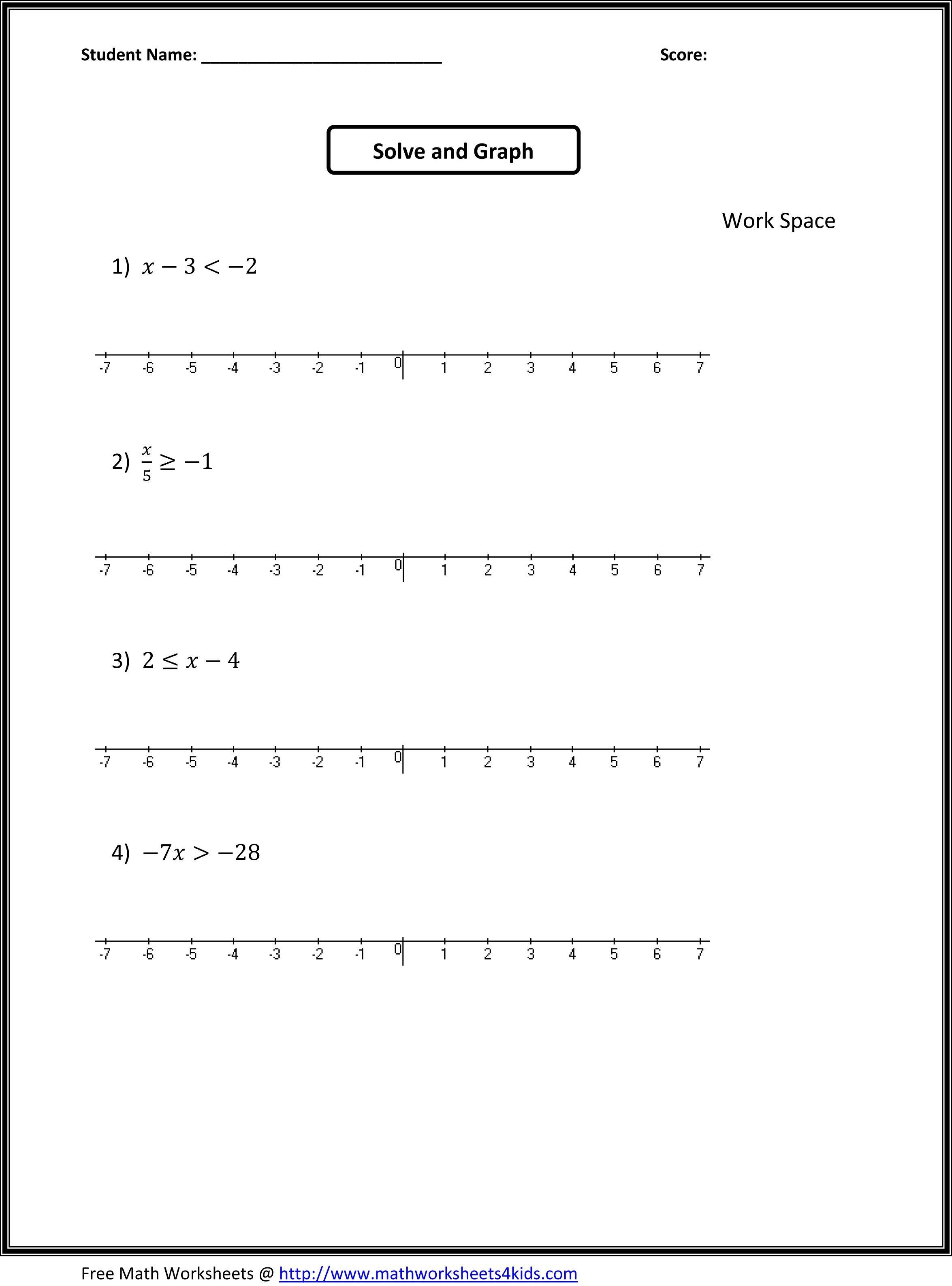 Algebra: 7Th Grade Math Expressions Worksheets Printable Worksheet | 7Th Math Worksheets Printable