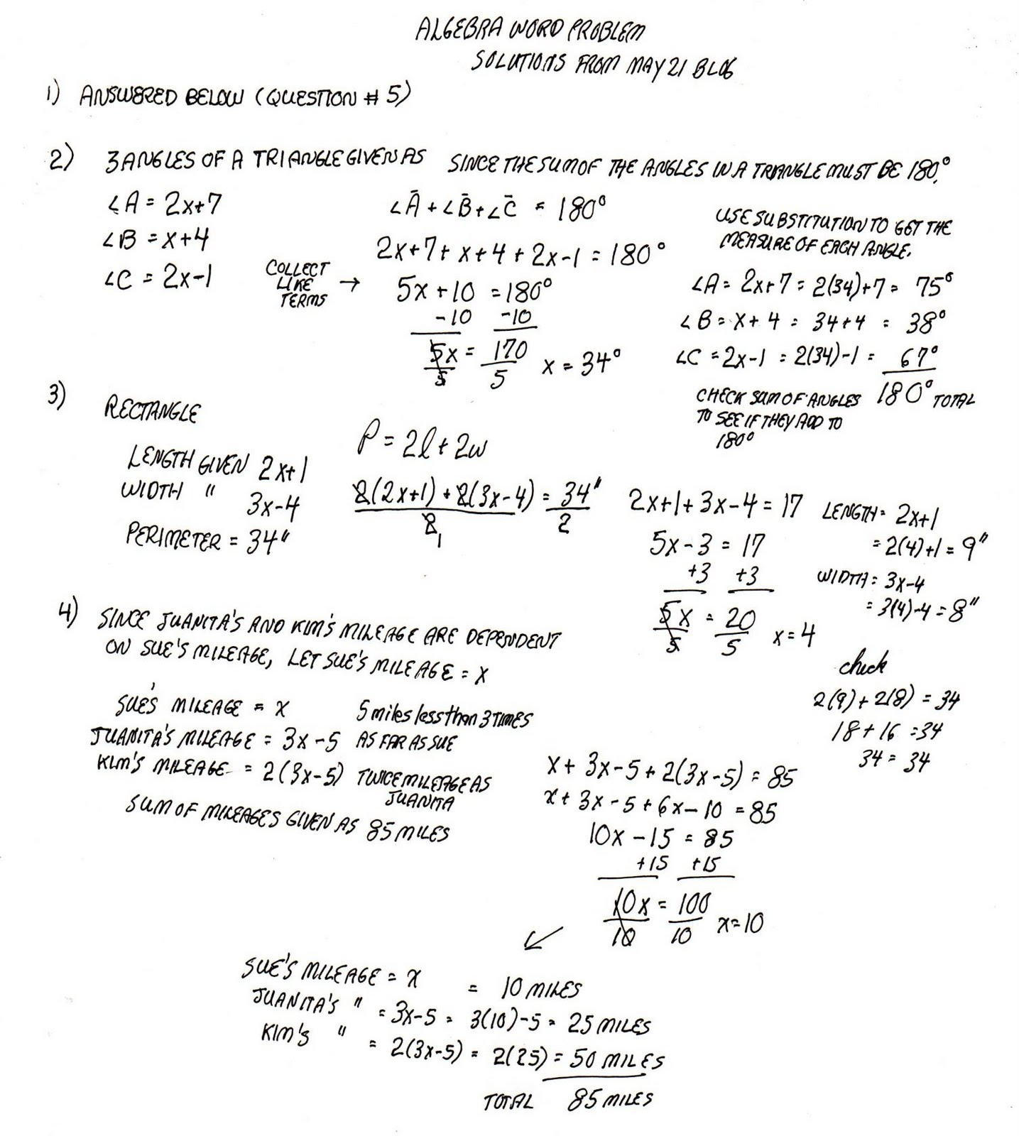 Algebra: Mixture Problems Algebra Chemistry Math Examples Shortcuts | Free Printable Worksheets On Mixtures And Solutions
