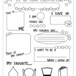 All About Me Worksheet   Free Esl Printable Worksheets Made | Printable Worksheets Com