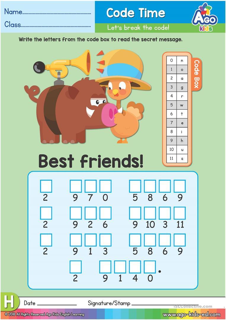 Alphabet Decoder Worksheet - The Letter H Worksheet - Free Esl | Printable Decoding Worksheets