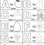 Alphabet Part I Coloring Printable Page For Kids: Alphabets Coloring   Childrens Printable Alphabet Worksheets