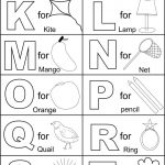 Alphabet Part Ii Coloring Printable Page For Kids: Alphabets   Childrens Printable Alphabet Worksheets