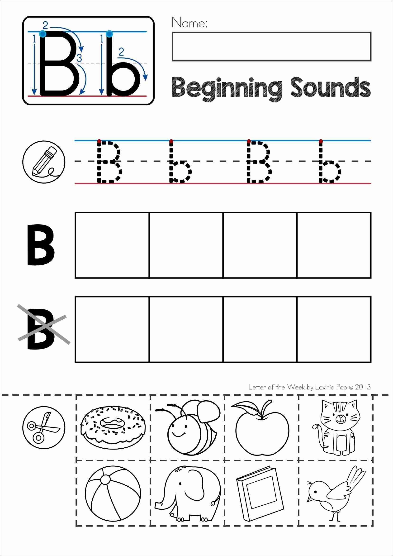 Alphabet Phonics Letter Of The Week B | Alphabet Activities | Free Printable Kindergarten Worksheets Cut And Paste