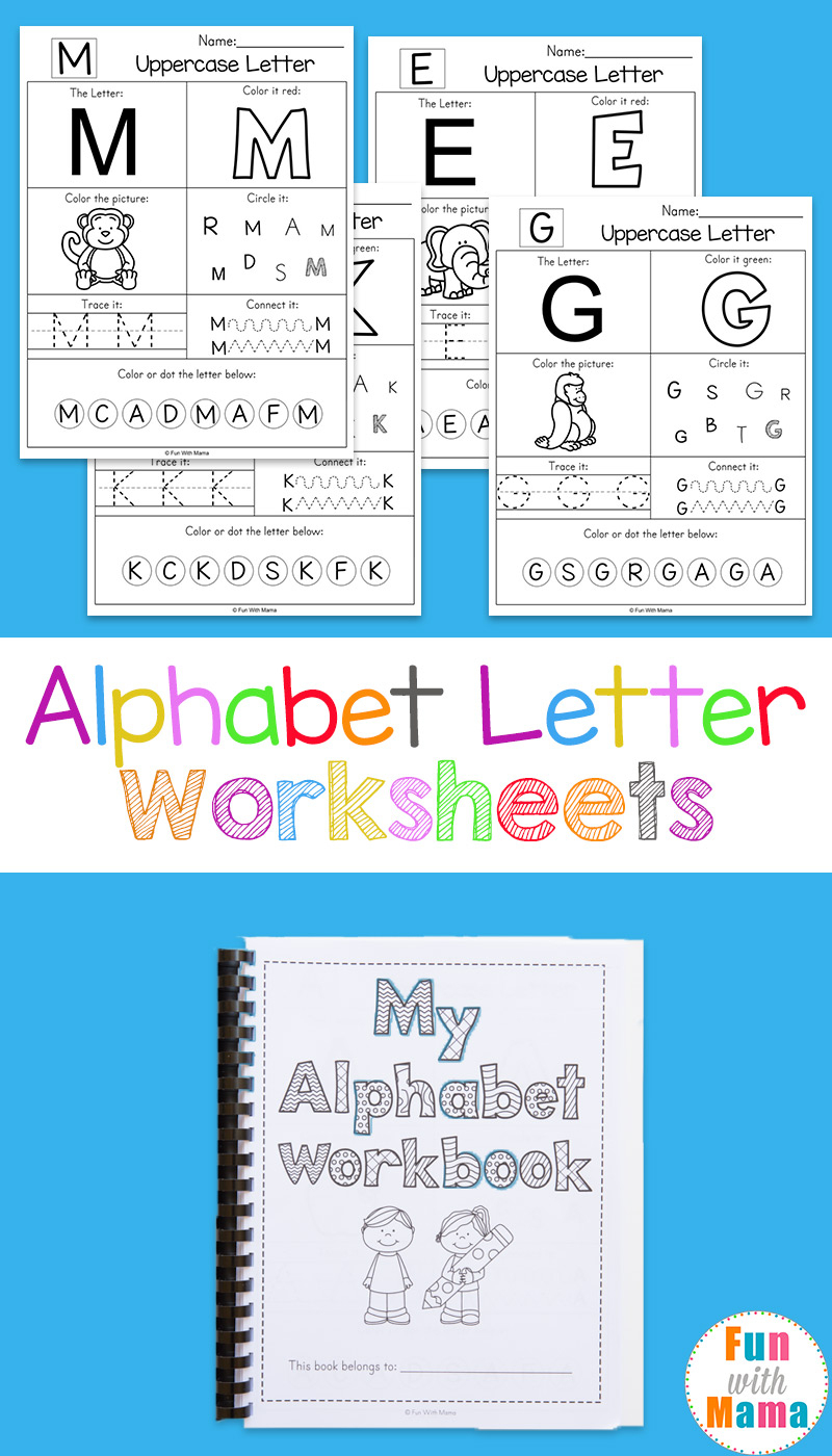 Alphabet Worksheets - Fun With Mama | Printable Worksheets For Preschoolers The Alphabets