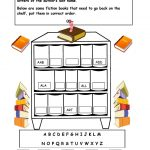 Alphabetical Order On The Shelf   Worksheet. | Library Skills   Free | Free Printable Library Skills Worksheets