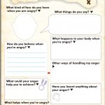 Anger Map Kids Worksheet Free Printable | Tools For Therapy X   Free | Anger Management Printable Worksheets
