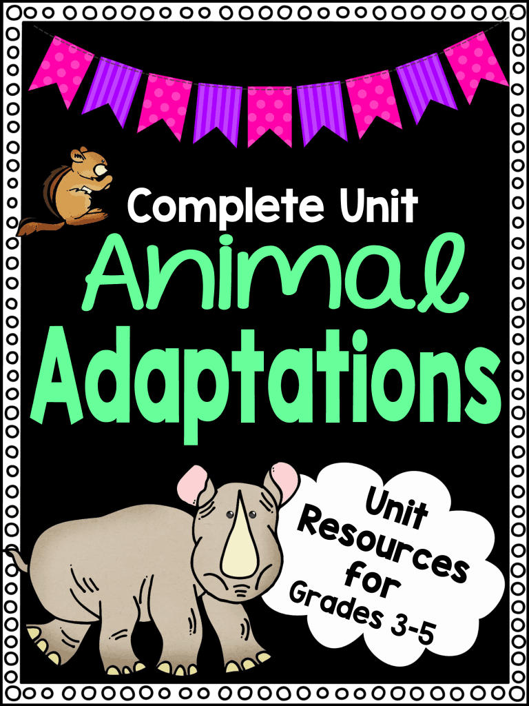 Animal Adaptations Worksheet Unit Plan For Teachers | Free Printable Worksheets Animal Adaptations