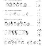 Another Thanksgiving Patterns Worksheet (K 2Nd) | Squarehead Teachers | Free Printable Thanksgiving Math Worksheets For 3Rd Grade