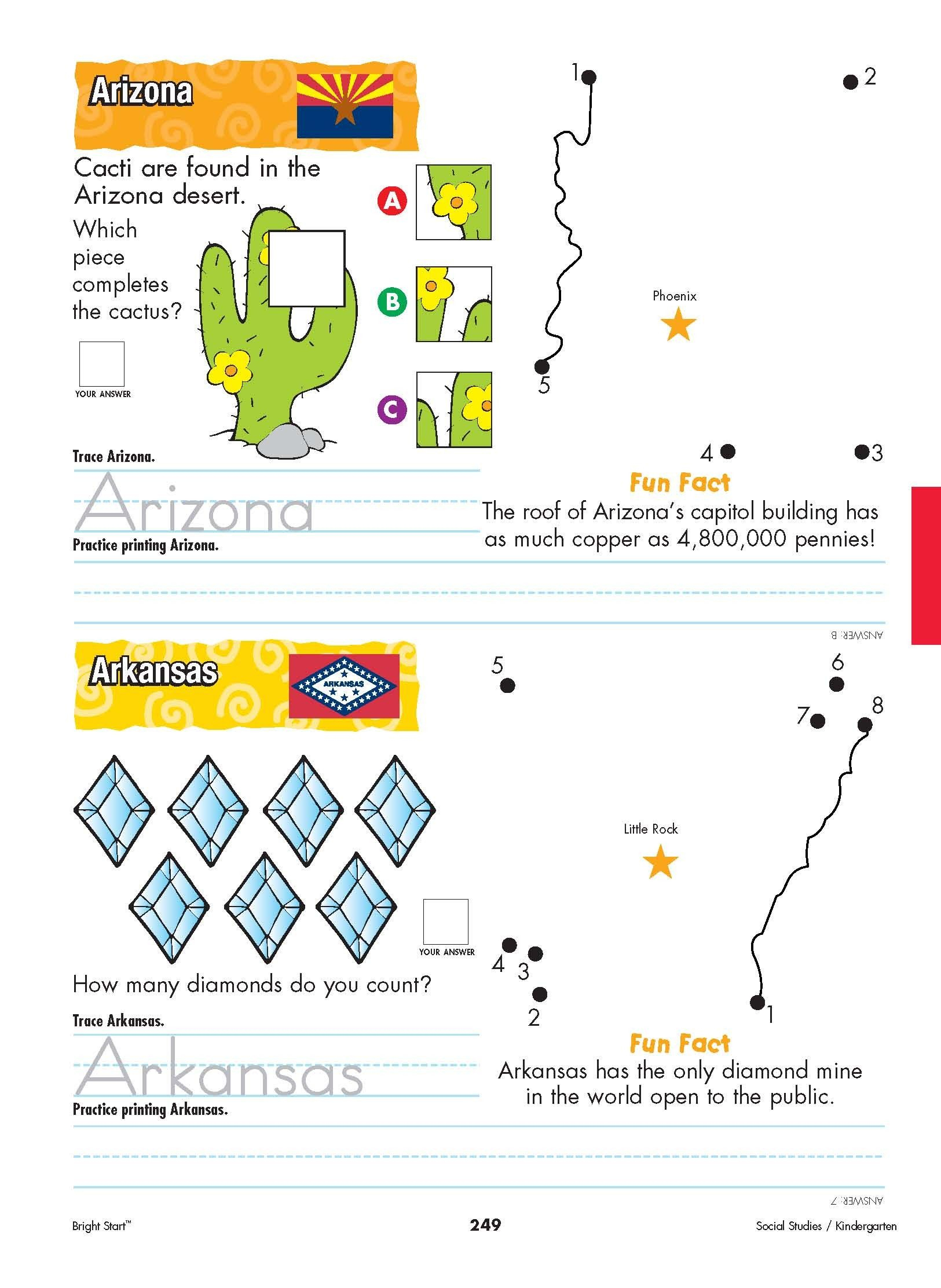 Arizona And Arkansas! From Shore To Shore, Begin Your - Free | Free Printable Arkansas History Worksheets
