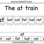At Word Family | Printable Worksheets | Preschool Worksheets | Free Printable Ay Word Family Worksheets