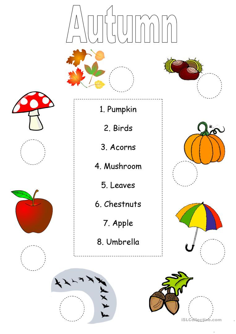 Autumn/fall Worksheet Worksheet - Free Esl Printable Worksheets Made | Printable Fall Worksheets